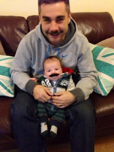 Even baby Harry has got involved with the Movember attempt