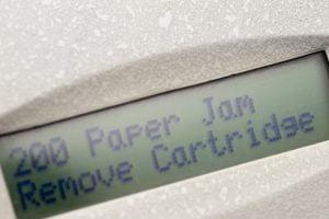 Paper jam digital display