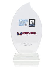 Midshire named Best Office Technology Supplier in the UK Corporate Excellence Awards