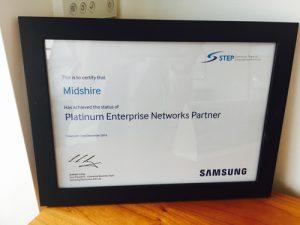 Samsung Platinum Award