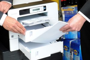 Ricoh GELJET printer close up