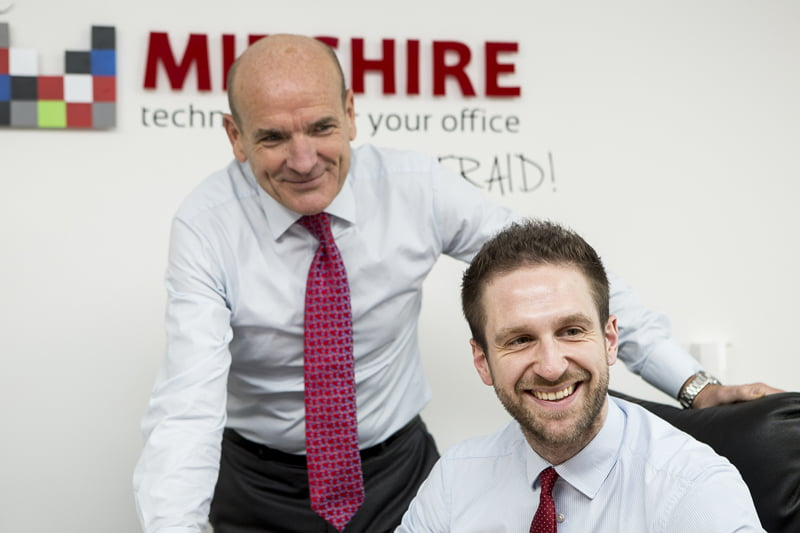 MD Julian Stafford and Nick Rose - Sales Manager