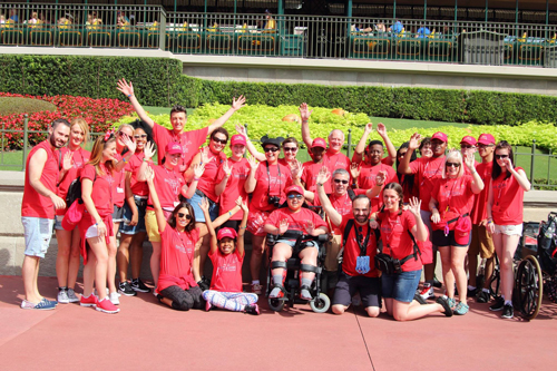 Red Team from Destination Florida children's charity