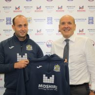 Dave Wardle, Manager at Stockport County Community Foundation, with Midshire Managing Director Julian Stafford