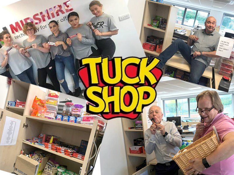 Midshire West Bromwich office launch a tuck shop to raise money for LOROS hospice