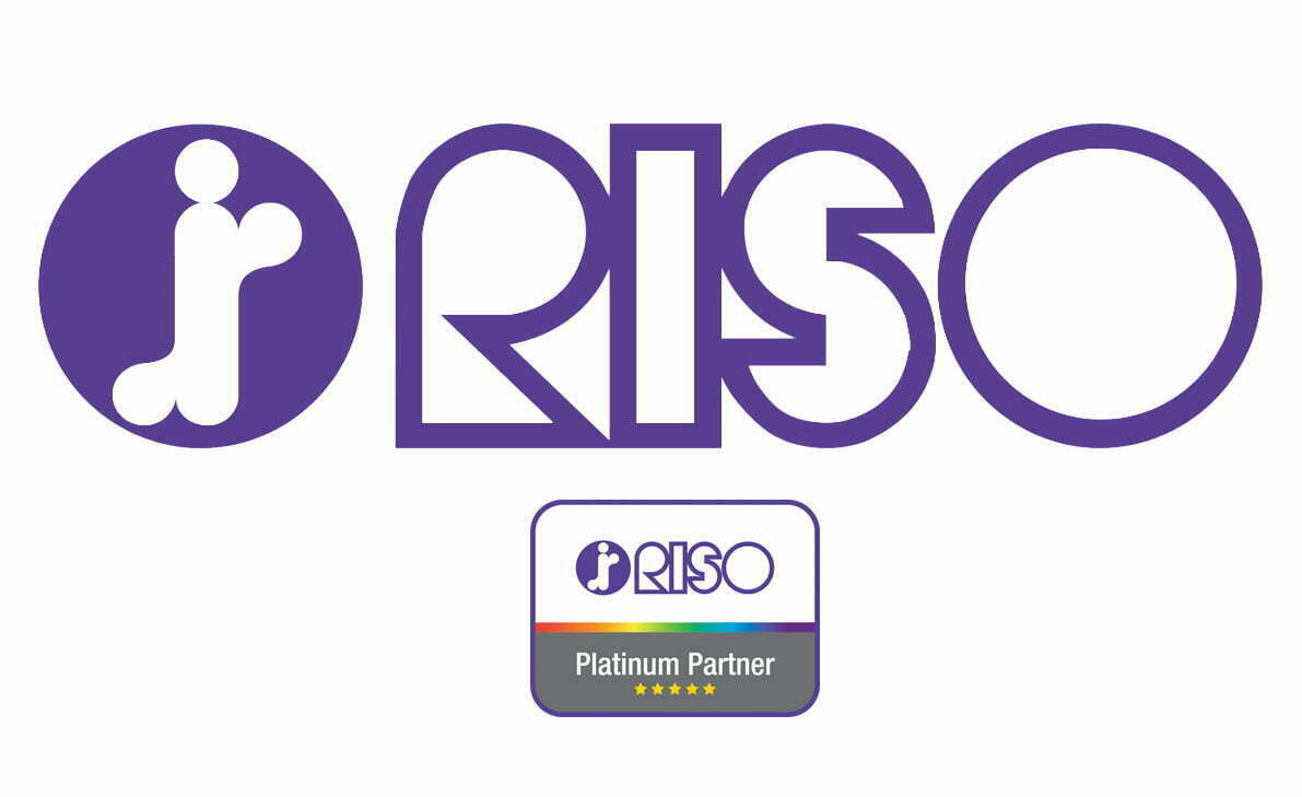 RISO Logo and Platinum Star Partner badge