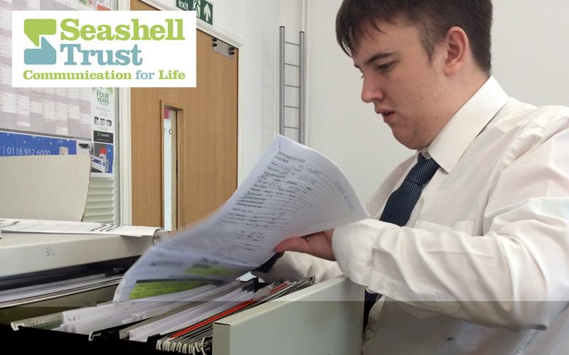Seashell Trust student Kieran
