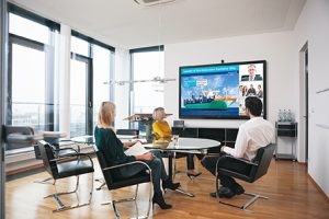 Sharp Interactive Screens for business boardroom