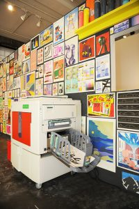 The Risograph with artwork