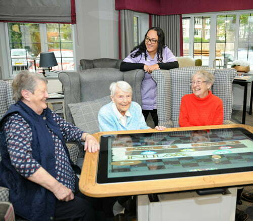 Interactive Touchscreen Table for Care Home